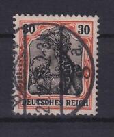 DR 89 II y 30 Pfg. Germania auf orangeweiß gestempelt geprüft (bt267)