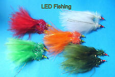 10 X ASSORTED FRITZ GOLDHEAD NOMAD NYMPH FISHING FLIES SIZE 10 (036)