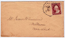 "#26A-3 Cents 1857, 68L11L, black ""MILAN AUG22 O."" CDS to New Haven CT 4 margins"
