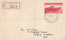 Stamp 2/5 Papua New Guinea 1961 RELIEF No 6 cover registered from KAINANTU
