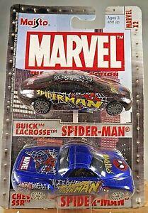 2003 Maisto MARVEL X2 PACK #8 BUICK LACROSSE SPIDER-MAN & CHEVROLET SPIDER-MAN