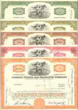 Lot of 5 COASTAL STATES NATURAL GAS CO. stock certificate