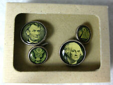Winky & Dutch Washington and Lincoln Chain Link Cufflinks