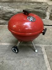 Weber Red Mini Charcoal Kettle BBQ Grill Teleflora Toy With Grate NEW