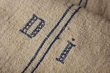 GRAIN SACK hemp grainsack DI HEAVY nubby sack flour bag blue HEMP homespun