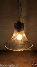 Deckenlampe Eisglas Lampe 3 blättrig Vintage Retro '60er/'70er Jahre Leuchte