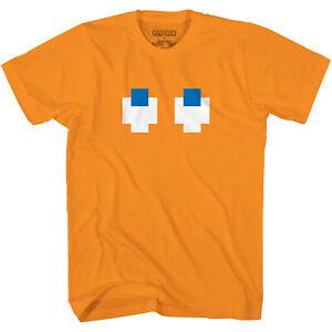 Pac-Man Clyde Pokey Face Orange Pacman Video Game Shirt