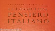 OPERE Vittorio Alfieri Letteratura e vita civile I classici pensiero italiano di