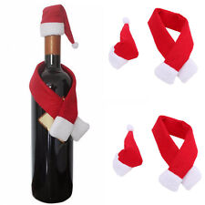 Christmas Button Wine Bottle Cover Bag Hat Scarf Sleeve Party Table Decor-New
