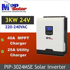 (MSE) 3kva 3000w 24v 230v Solar inverter  + 40A mppt solar charger max PV 1000w