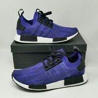 *NEW* Adidas NMD R1 Primeknit (Men's Size 10) Boost Sneaker Shoes Indigo Black