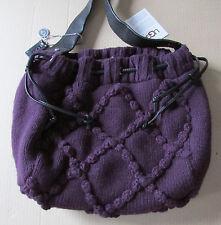 UGG Bag Cardy Knit Crochet Shoulder Purple NEW