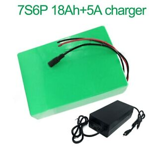 With 5A charger 24V 18Ah 25.9V 7S6P   Battery E-Bike electric bicycle