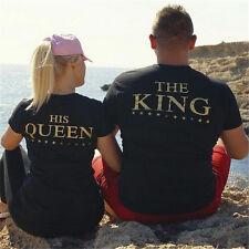 Rey y Reina Camiseta Byfriend Novia Esposa Esposo Pareja Esposo Familiar Regalo