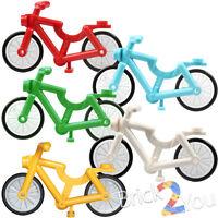 Lego Set/5 Medium Azure, Blue, White, Red, Green, Bright Light Orange Bicycle
