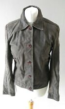 VINTAGE RETRO UNITED COLORS OF BENETTON WOMENS GENUINE LEATHER JACKET SIZE 10 12