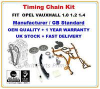 Opel Vauxhall Corsa c Agila Astra Meriva 1.0 1.2 1.4 Timing Chain Kit with Gears
