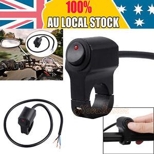 12V Motorcycle ATV Handlebar Headlight Fog Spot light On Off Switch Waterproof
