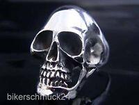 Totenkopfring Biker Ring 925 Sterling Silber Skull Bikerschmuck Herren Geschenk
