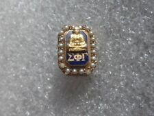 Old 10k Solid Gold Sigma Phi Gamma Sorority PIn Badge