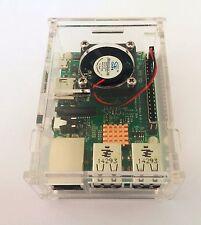 Raspberry Pi 3 Model B Kit board 1GB RAM 1.2GHz CPU + Clear Case + Fan+ Heatsink