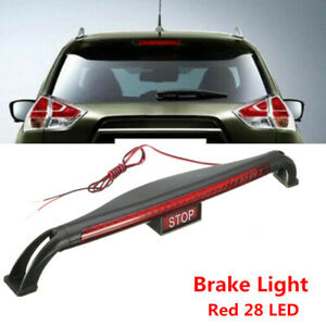 Universal Car Red 28 LED 12V Third Brake Tail light High Mount Stop Lamp Safety