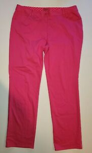 Nike Golf Tour Performance Women's Dri-Fit Hot Pink Size 14 Pants 36x31.5 Chino