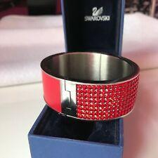 GENUINE Swarovski Crystal INTERVALLE Wide Bangle Bracelet - Swan Hallmarked - M