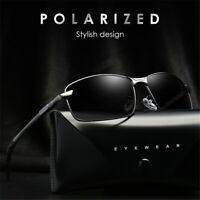 Aluminium Frame Mens Polarized Sunglasses Rimless Driving Glasses TAC HD Eyewear