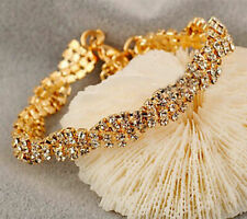 2019 Elegant Women Gold Plated Clear Crystal Chain Bracelet Cute Jewelry