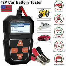 12V Auto Car Battery Tester Digital 100-2000CCA Cranking Charging Test Analyzer