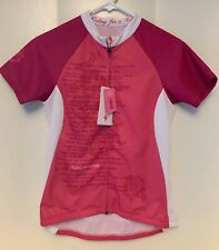 NWT Specialized Susan G. Komen Cycling Jersey Women's S Small Full Zip Pink