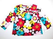 Carter's ~ estados unidos ~ 86-92 ~ manga larga camisa camiseta ~ ~ chica ~ multicolor ~ flores ~ suéter ~ geblumt ~ nuevo
