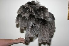 One deluxe soft floss ostrich feather duster 100cm overall wood stained handle