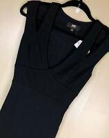 UU-5 ABS Allen Schwartz cut-out maxi dress  BLACK size XS *