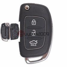 Replacement Shell Folding Remote Key Case Fob 3 Button for Hyundai ix45 Santa Fe