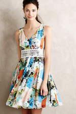 NWT Anthropologie Patchwork Petals Dress by Leifsdottir 0(XS) $248 100% Silk