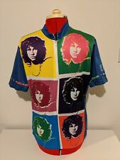The Doors Jim Morrison Rare Cycling Jersey Primal Wear Short Sleeve Large