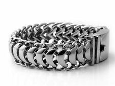 �Ship from Us】 Biker Rocker Scorpion 19mm Links Silver Stainless Steel Bracelet