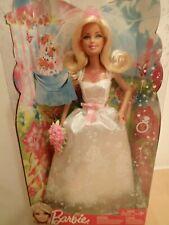 Barbie novia vestido de bodas boda rubio NRFB OVP