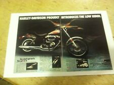 Vintage Harley Davidson Low Rider  Motorcycle Poster Ad Home Decor Art
