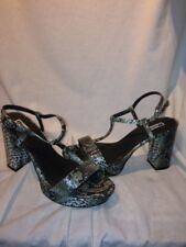 Dune Ladies Grey Snake Print Grey Sandals Uk 7 Ref Bag 04