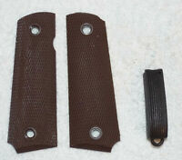 1911 Retro Mainspring Housing + Grips WWII USGI type fits Colt A1 Rock Island
