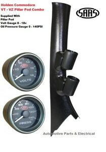 SAAS PIllar Pod suits Holden Commodore VX SS with Volts Gauge + Oil Pressure