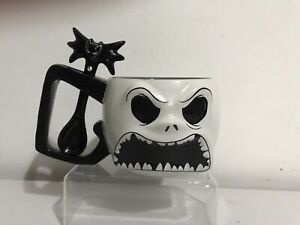 Disney Nightmare Before Christmas 3d Two Sided Jack Skellington Face Mug + Spoon
