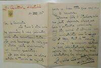 1936 15) LETTERA AUTOGRAFA SCRITTRICE GISELE QUITTNER ALLATINI