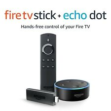 Fire TV Stick with Alexa Voice Remote + Echo Dot Fire TV Stick + Echo Dot