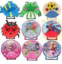 Kids Disney Foldable Moon Chair Padded Folding Seat Camping Beach Garden Minions