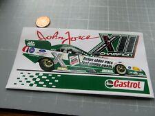 CASTROL JOHN FORCE CHAMPION  Sticker / Decal  VINTAGE ORIGINAL OLD STOCK