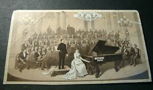 Advert. Card for  Decker Brothers Piano, Chicago  Has a corner crease. L398